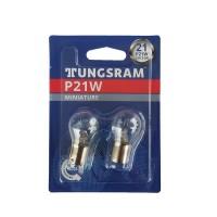 Set 2 becuri pozitie/semnalizare Tungsram BA15S, 21 W, 12 V, P21W