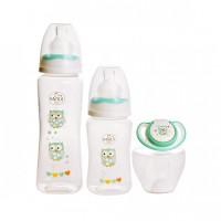 Set 2 biberoane Minut Baby, 125/250 ml, suzeta inclusa, 0 luni+