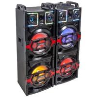 Set boxe profesionale, 850 W, 2 x 10 inch, Bluetooth, USB/SD/AUX, telecomanda