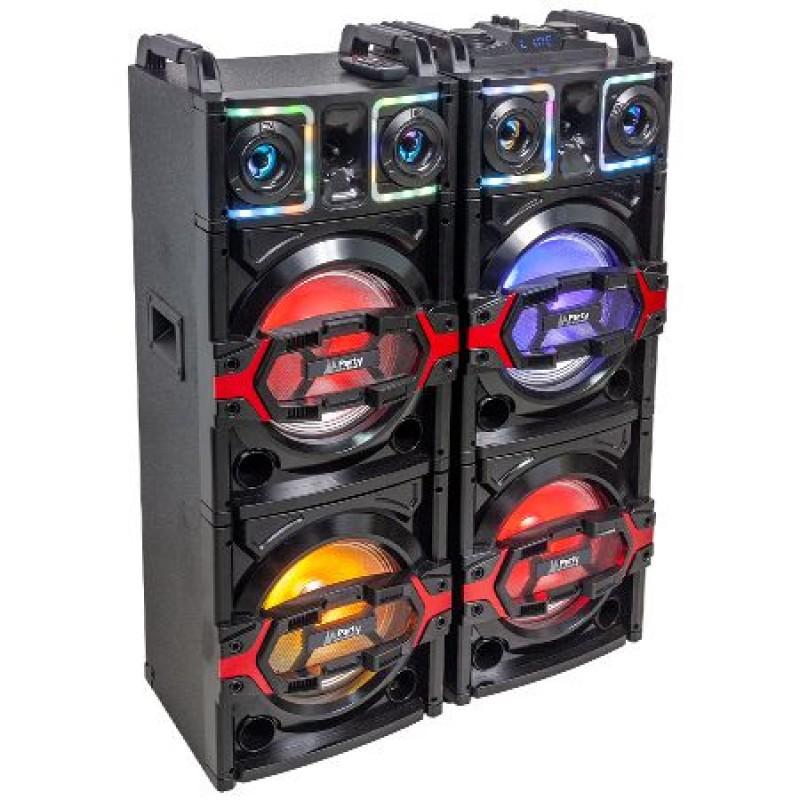 Set boxe profesionale, 850 W, 2 x 10 inch, Bluetooth, USB/SD/AUX, telecomanda 2021 shopu.ro
