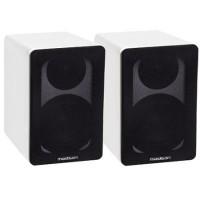 Set 2 boxe acustice, 40 W RMS, woofer 10 cm, design modern, Alb