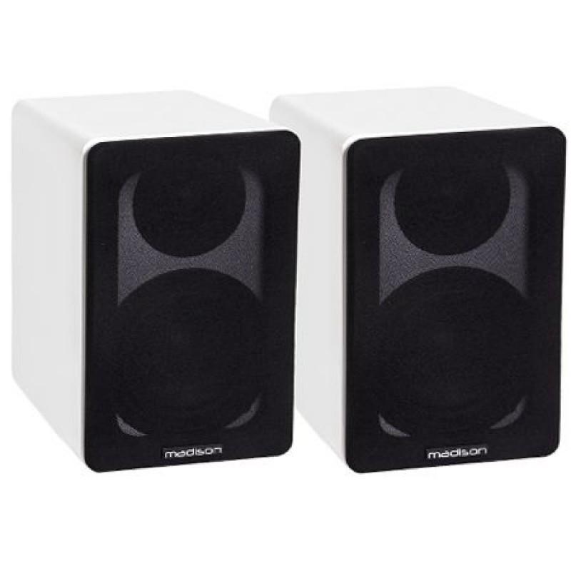 Set 2 boxe acustice, 40 W RMS, woofer 10 cm, design modern, Alb 2021 shopu.ro