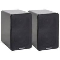 Set 2 boxe acustice, 40 W RMS, woofer 10 cm, design modern, Negru