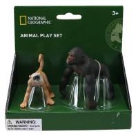 Set 2 figurine Gorila si Maimuta National Geographic, 3 ani+