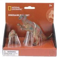 Set 2 figurine Pachycephalosaurus National Geographic, 3 ani+