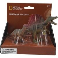 Set 2 figurine Spinosaurus si Dilophosaurus National Geographic, 3 ani+