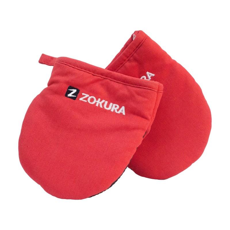 Set manusi de bucatarie Zokura, bumbac, 2 bucati, Rosu 2021 shopu.ro