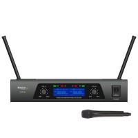 Set 2 microfoane profesionale Ibiza, wireless, afisaj LCD
