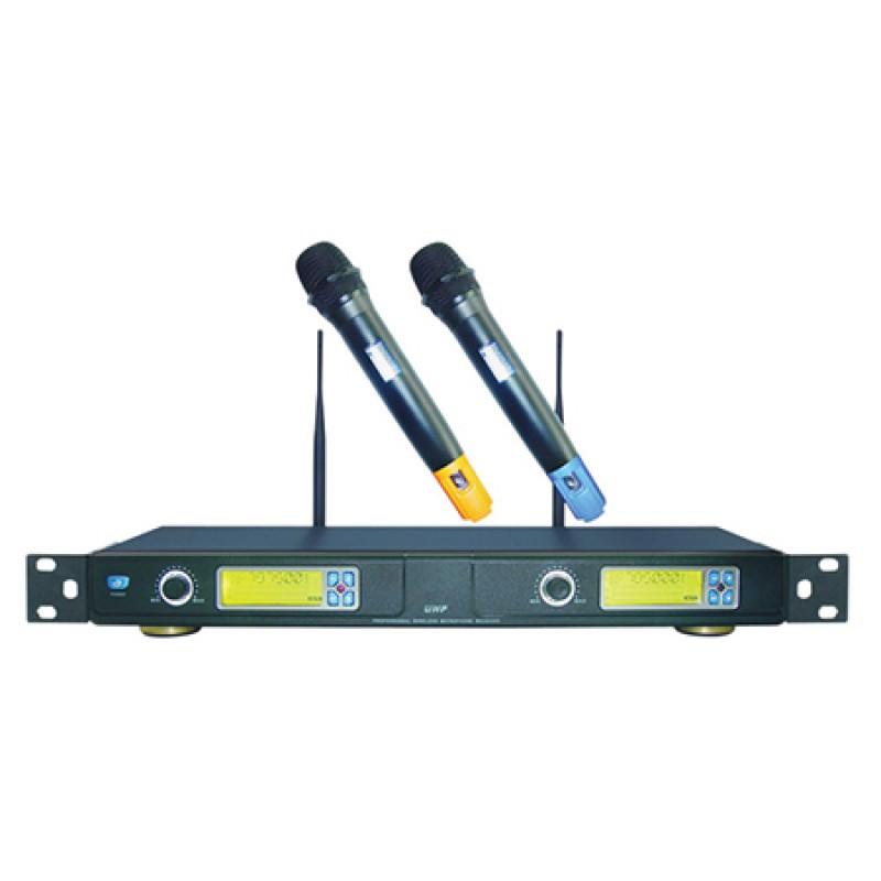 Set 2 microfoane Wireless UHF BST, 2 x XLR, 1 x jack, distanta 150 m, functie autoscan 2021 shopu.ro