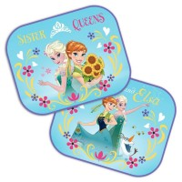 Set 2 parasolare auto Frozen Sister Queen, 44 x 35 cm, montaj usor, poliester