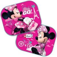 Set 2 parasolare auto Minnie Mouse, montaj usor, poliester, 44 x 35 cm