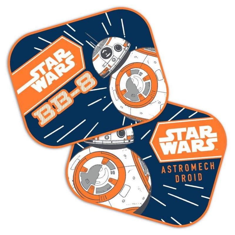 Set 2 parasolare auto Star Wars BB8, montaj usor, poliester, 44 x 35 cm 2021 shopu.ro