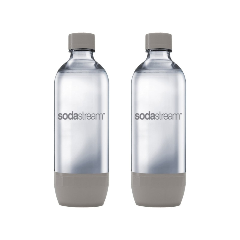 Set 2 sticle SodaStream, 1 L, etansare ermetica, plastic, Gri 2021 shopu.ro