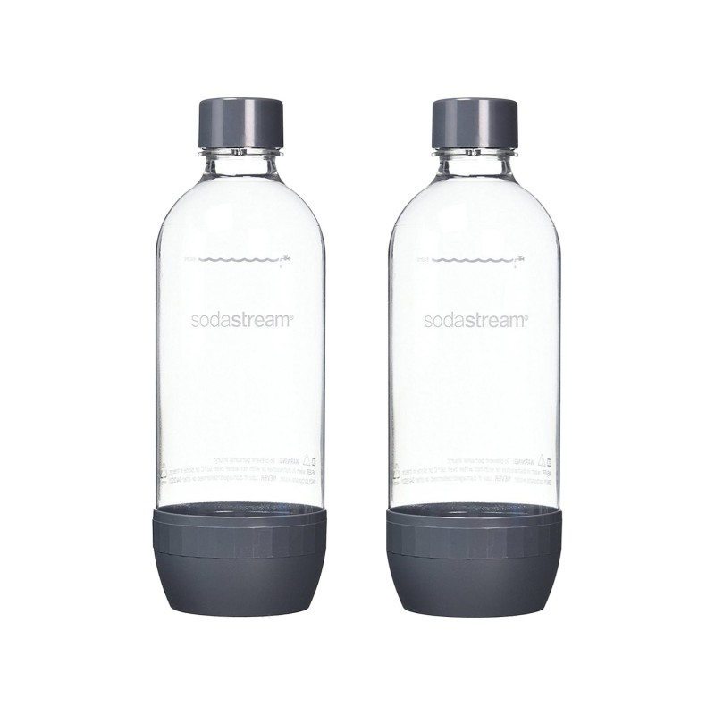Set 2 sticle SodaStream, 1 L, etansare ermetica, plastic, Negru 2021 shopu.ro