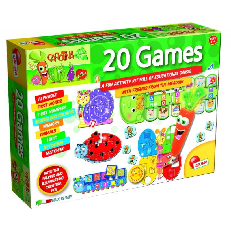 Set 20 jocuri Lisciani, pix interactiv inclus, limba engleza, 3 ani+ 2021 shopu.ro