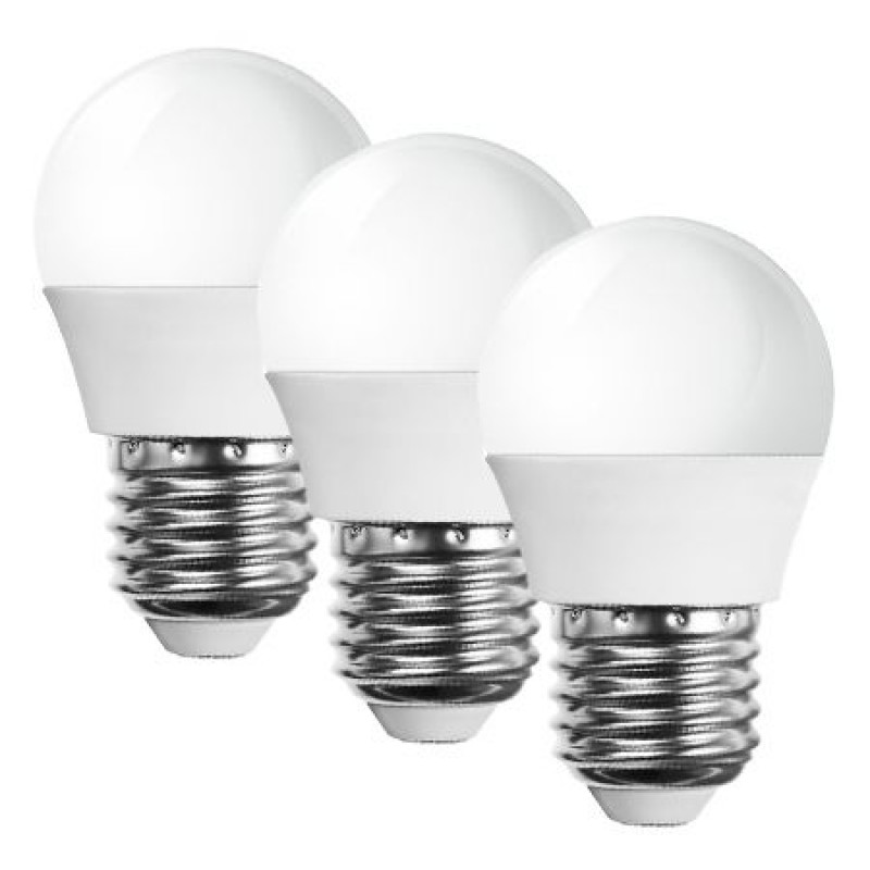 Set 3 becuri LED, soclu E27, 470 lm, 5.5 W, 2700 K, alb cald 2021 shopu.ro