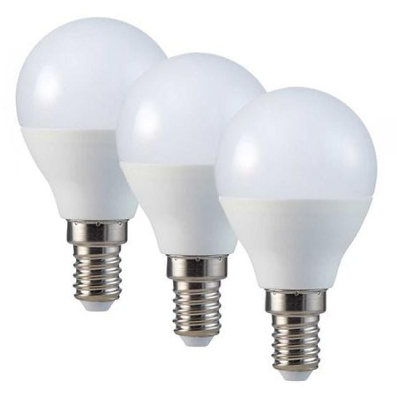 Set 3 becuri LED, soclu E14, 470 lm, 6 W, 4000 K, alb neutru 2021 shopu.ro