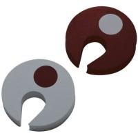 Set 3 protectii pentru usa Home Design Beaba, Maro/Gri