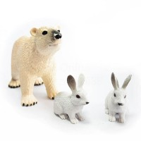 Set 3 figurine Urs si iepure polar National Geographic, 3 ani+