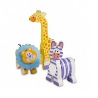 Set 3 jucarii pentru motricitate Safari Melissa & Doug, 1 an+