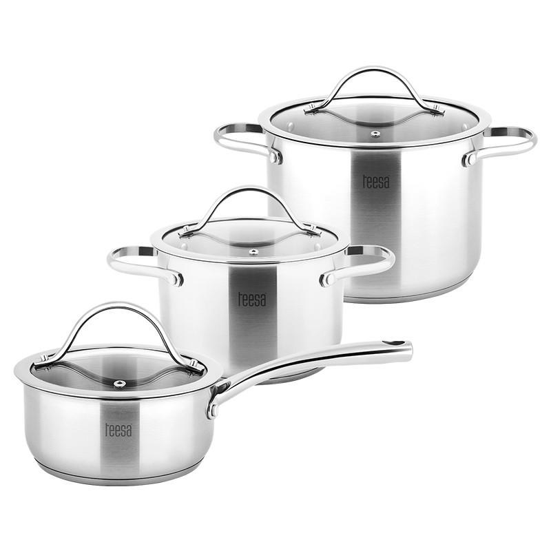Set 3 oale Cook Expert Master Teesa, 1/3/6 l, inox, capac sticla, Argintiu 2021 shopu.ro