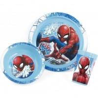 Set de masa pentru copii 3 piese Spider-Man Lulabi, Multicolor