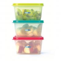 Set 3 recipiente hrana copii Colours and Flavours BebeduE, 400 ml, Multicolor