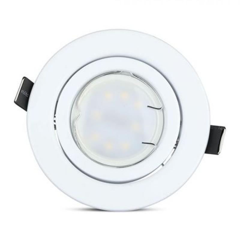 Set 3 spoturi LED, 5 W, 3000 K, 400 lm, forma PAR16, soclu GU10 , lumina alb calda 2021 shopu.ro