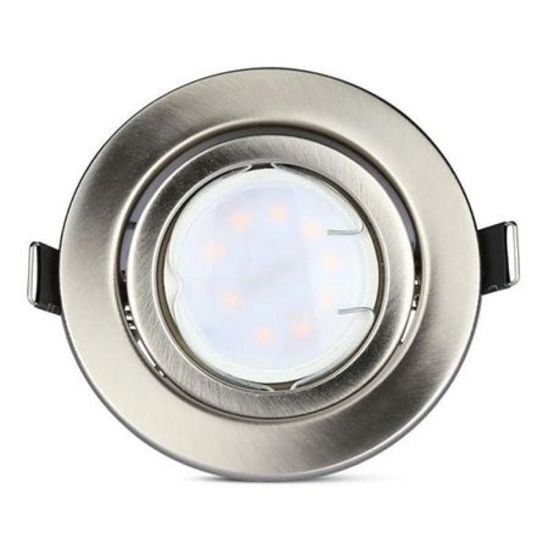 Set 3 spoturi LED V-TAC, 5 W, 6400 K, 400 lm, forma PAR16, soclu GU10, lumina alb rece