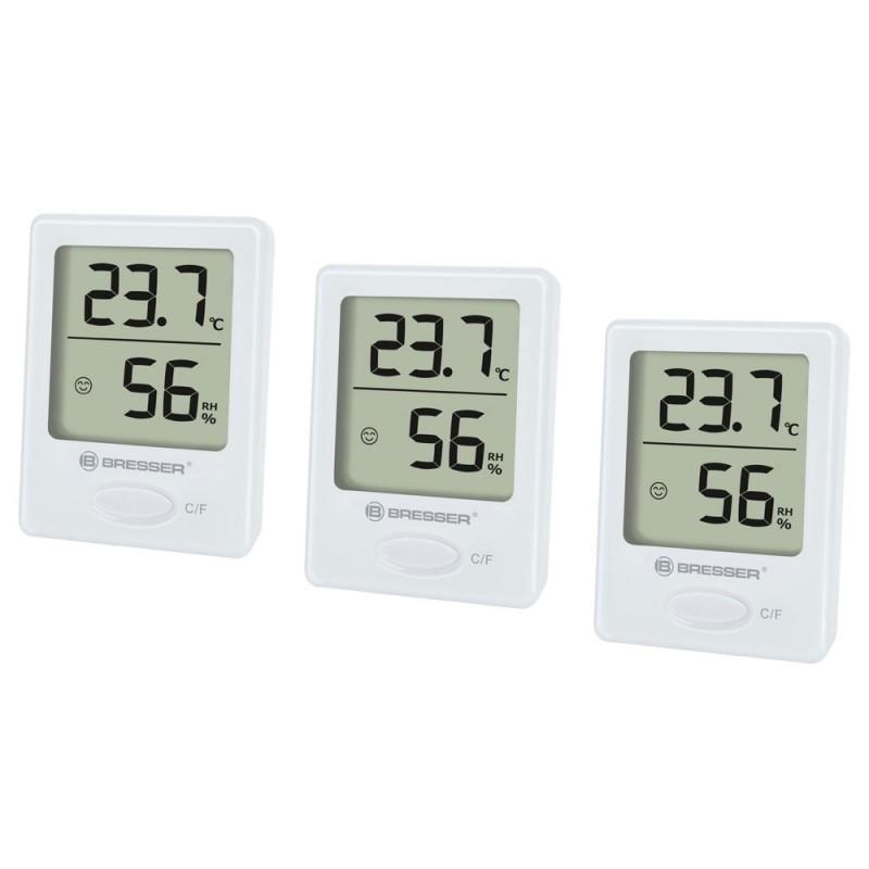 Set 3 statii meteo Bresser, afisare temperatura/umiditate 2021 shopu.ro
