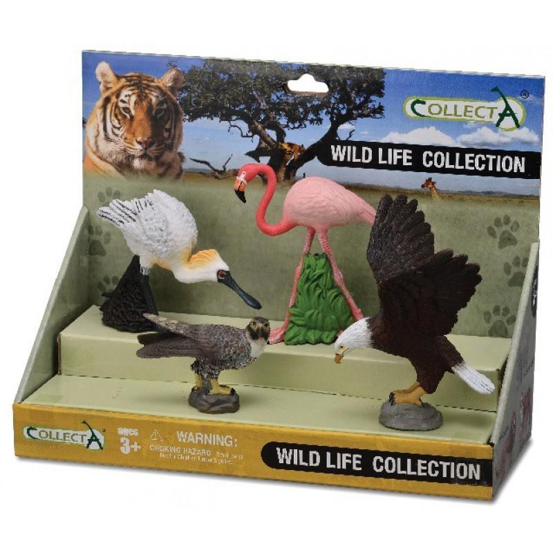 Set 4 figurine Animale salbatice Collecta, 16 x 10 x 18 cm, plastic cauciucat, 3 ani+