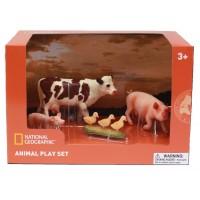Set 4 figurine Animalutele de la ferma National Geographic, 3 ani+