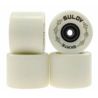 Set 4 roti pentru skateboard DHS, 60 x 45 mm, poliuretan, rulmenti ABEC 7, Fosforescent