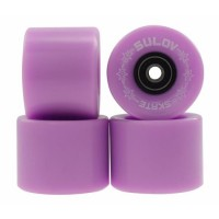 Set 4 roti pentru skateboard DHS, 60 x 45 mm, poliuretan, rulmenti ABEC 7, Mov