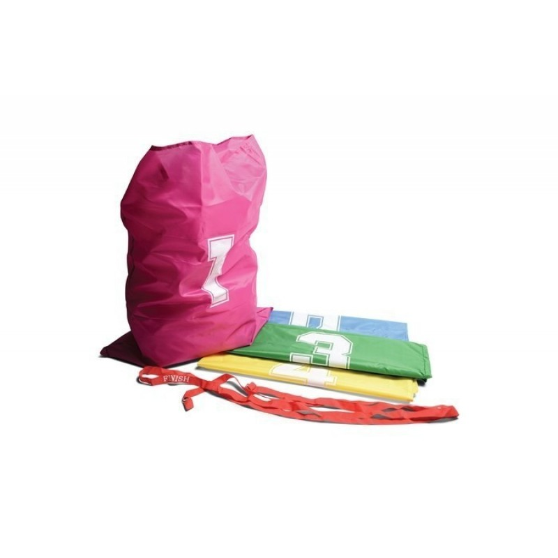Set 4 saci pentru sarituri Buitenspeel, 73x 53 cm, numerotati individul in patru culori