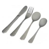 Set tacamuri inox pentru copii Reer, 4 piese, Argintiu