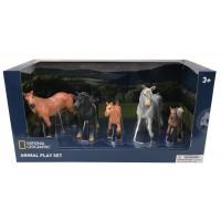Set 5 figurine Cai salbatici National Geographic, 3 ani+