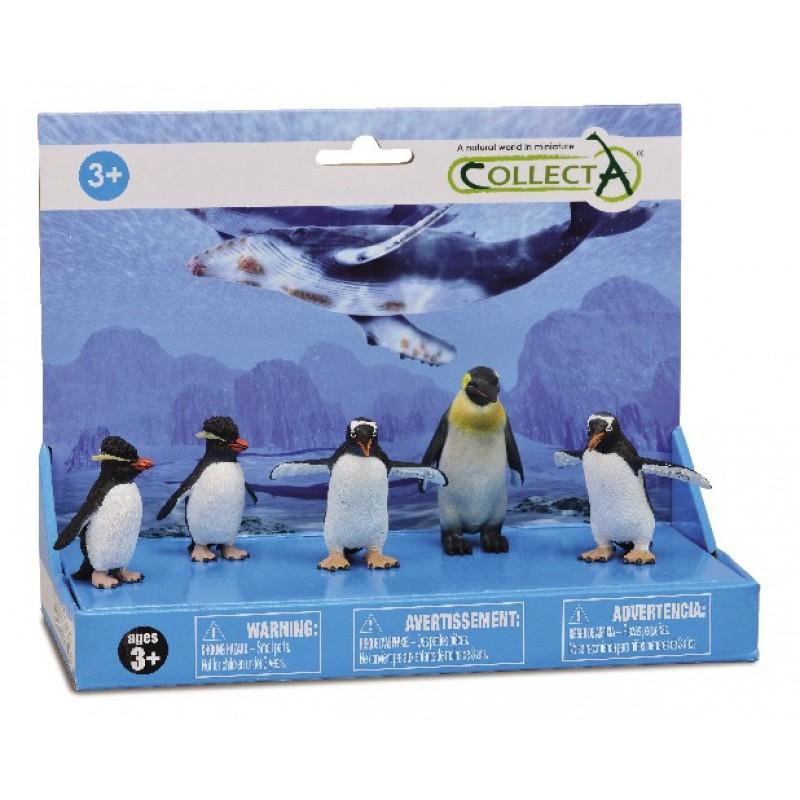 Set 5 figurine Pinguini Collecta, 23 cm, 3 ani+