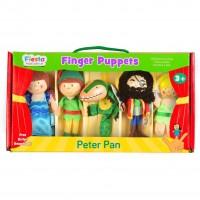 Set 5 Marionete pentru deget Peter Pan Fiesta Crafts, 3 ani+