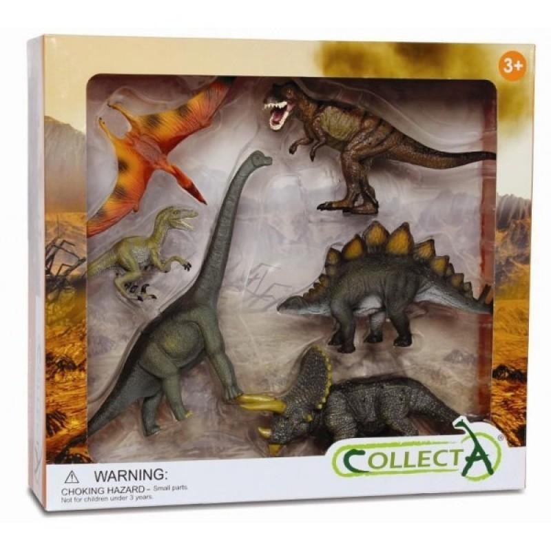 Set 6 figurine preistorice Collecta, multicolor 2021 shopu.ro