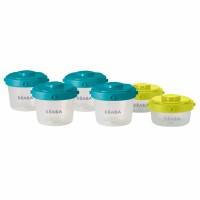 Set recipiente ermetice pentru hrana, 2 x 60 ml, 4 x 120 ml, 6 piese/set