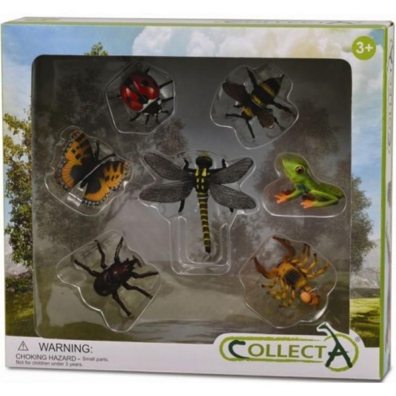 Set 7 figurine insecte Collecta, 3 ani+
