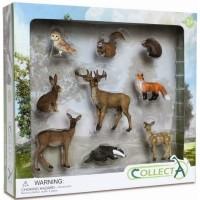 Set 9 figurine animale de padure Collecta, 3 ani+