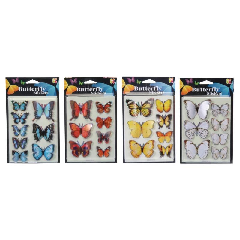 Abtibilduri 3D Fluturasi Keycraft, 17 cm, 7 fluturi, 4 ani+, Multicolor 2021 shopu.ro