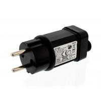 Set adaptor si cablu de alimentare, Well, 220-240 V, 5 m, IP44, Negru