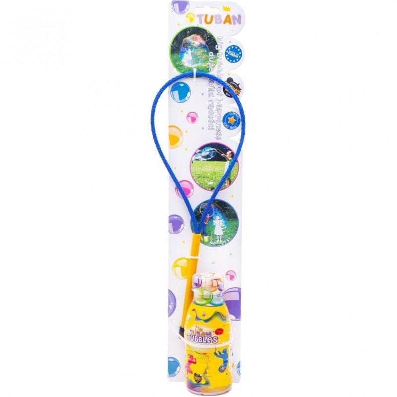 Set Bat cu inel pentru baloane de sapun Tuban, 250 ml, 35 cm, 3 ani+ 2021 shopu.ro