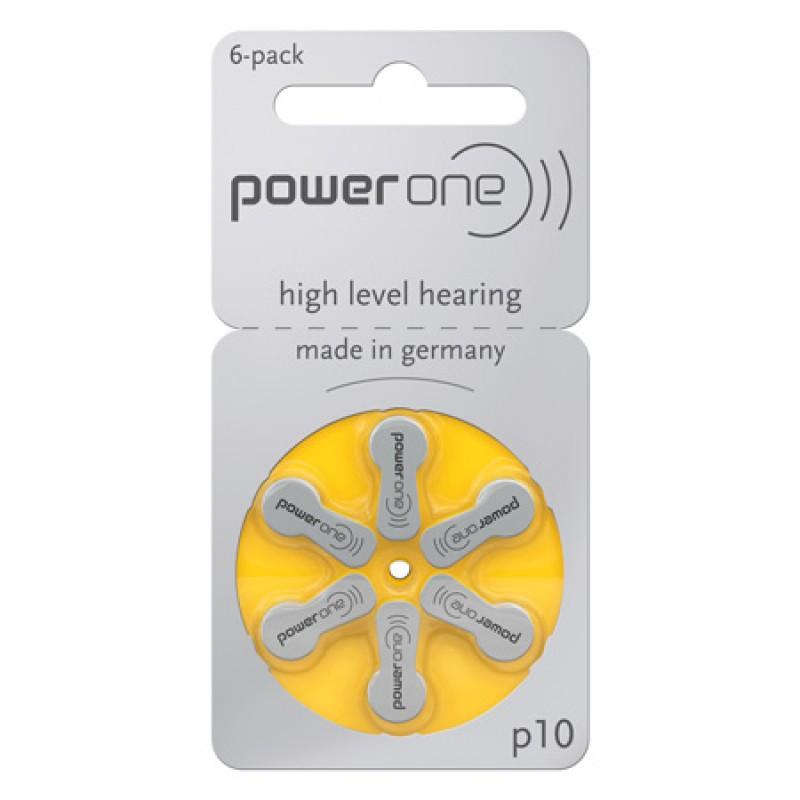 Set baterii auditive Power One VARTA, 6 bucati, P10 BL 6 2021 shopu.ro