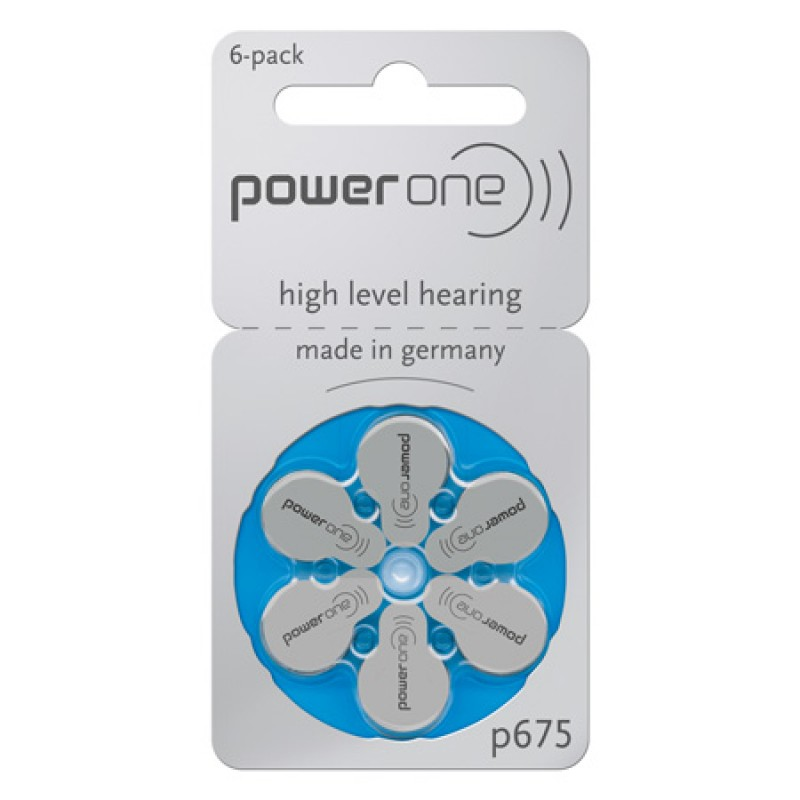 Set baterii auditive Power One VARTA, 6 bucati, P675 6B 2021 shopu.ro