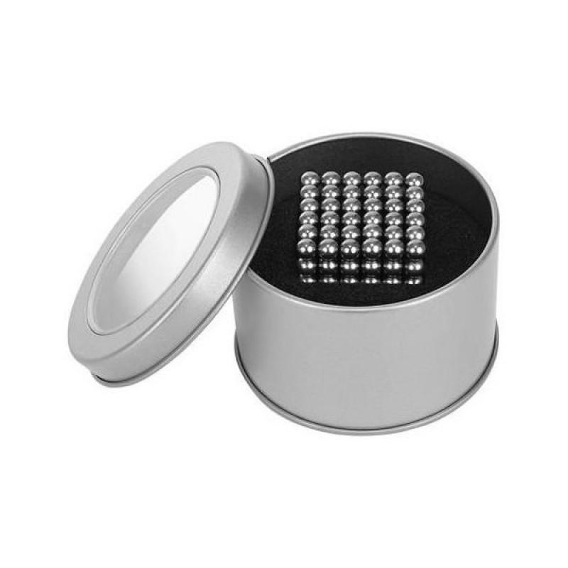 Set creativ bile magnetice antistres Iso Trade, 216 piese, 5 mm, cutie depozitare inclusa, 3 ani+, Argintiu 2021 shopu.ro
