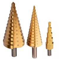 Set 3 burghie conice pentru metal HSS-Ti Proline, 4-38 mm